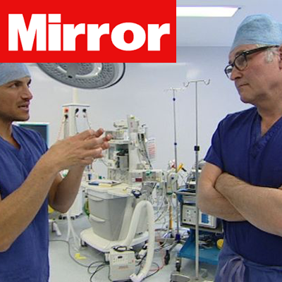 Peter Andre Visits - Daily Mirror